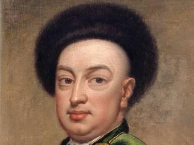 Portät Ludwig Maximilian Mehmet von Königstreu (1660-1726),Kopie des Porträts von Godfrey Kneller (1646 -1723) in der Royal Collection, Bildauschnitt