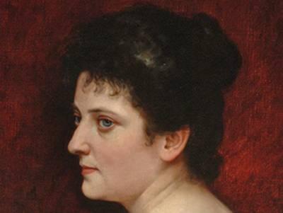 Porträt von Olga Polna-Tramm (1869–1936), Ausschnitt vom Original