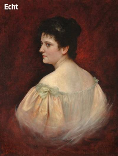 Porträt von Olga Polna-Tramm (1869–1936)
