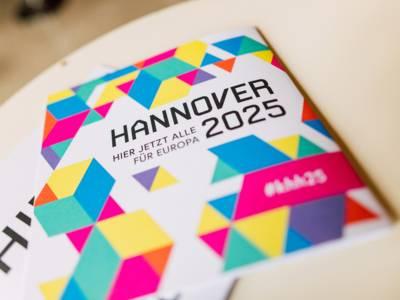 """Der """"Kuxel"""", kurz für """"Kultur Pixel"""" ist das gestalterische Hauptelement der Bewerbung Hannovers zur Kulturhauptstadt 2025"""