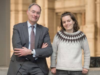Kulturrat-Vorsitzende Stefan Becker und Magdalena Jackstadt