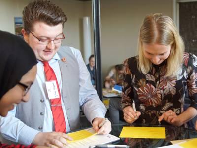 Die Schülerinnen und Schüler hatten viele Ideen, die dabei helfen sollen, dass Hannover im Jahr 2025 Kulturhauptstadt wird.