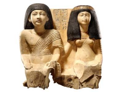 Ein ägyptisches Kunstwerk: Ki-nebu und Isis, 20. Dynastie (um 1140 v. Chr.)