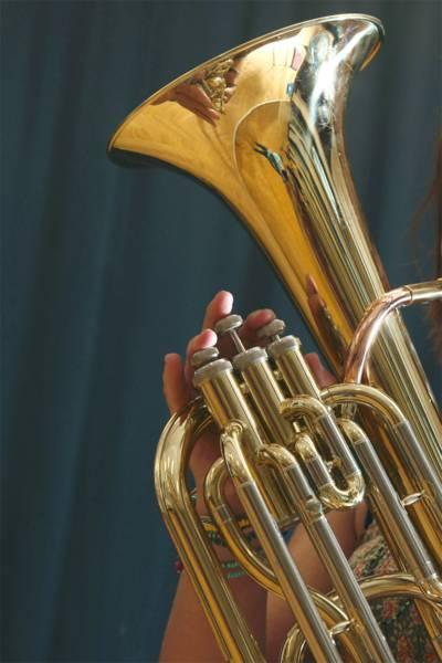 Das Euphonium (griechisch: wohlklingend) ist ein tiefes Blechblasinstrument.
