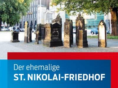 """Teilansicht des Titelblatts der Informationsbroschüre """"Der ehemalige Sankt Nikolai-Friedhof"""""""