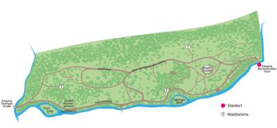 Übersichtsskizze des Kinderwaldgeländes