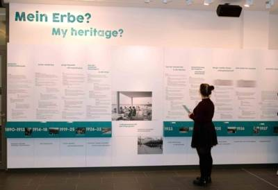 """Die Chronik """"Mein Erbe?"""" im Erdgeschoss des ZeitZentrum Zivilcourage"""