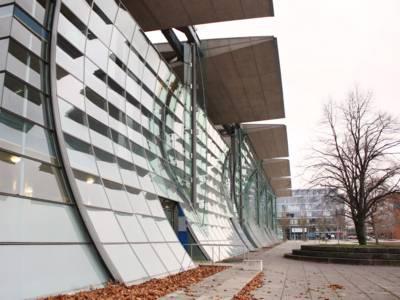 Außenansicht des Deutschen Pavillons