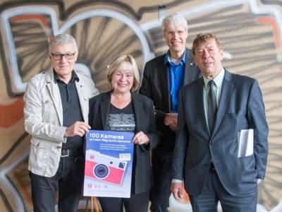 Dr. Udo Niedergerke, Dr. Ricarda Niedergerke, Rainer Müller-Brandes und Harald Härke bei der Vorstellung des Projekts am 12. Mai