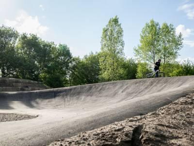 Steilkurve der BMX-Bahn in Misburg