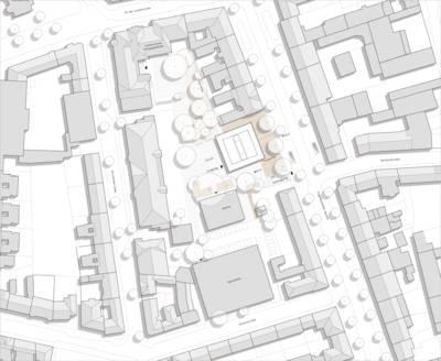 Lageplan des Erweiterungsbaus Lutherschule