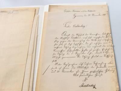 Eine Akte aus dem Jahr 1889