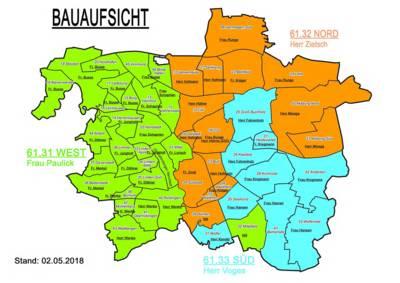 Übersichtskarte von Hannover, in Stadtteile gegliedert