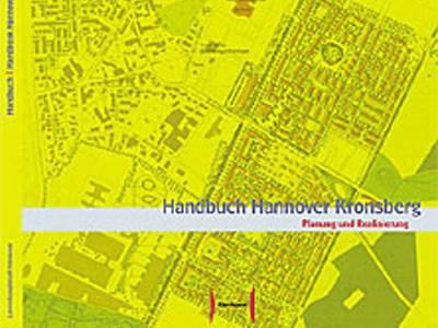 """Titelbild der Broschüre """"Handbuch Hannover-Kronsberg Planung und Realisierung"""""""