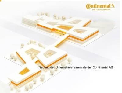 Neubau der Unternehmenszentrale der Continental AG - Modell