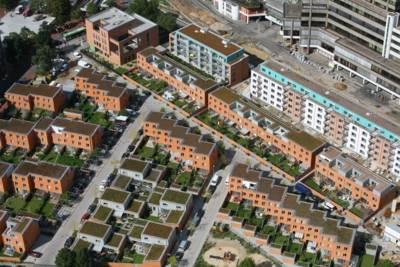 Gilde-Carré - Neubau auf dem Gelände der Gilde-Brauerei, Blumenauer Straße, Ihmezentrum.