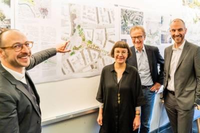 Stefan Grieger, Ina Weise, Uwe Bodemann und Belit Onay