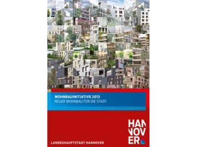Titelgrafik des Flyers Wohnbauinitiative 2013