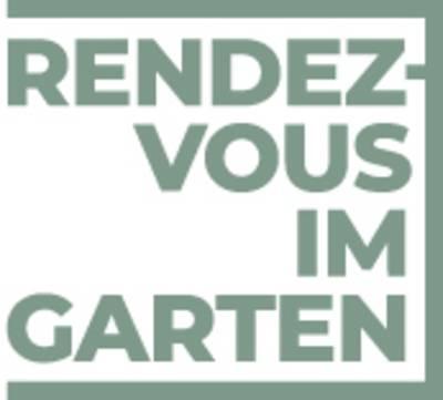 Das Logo des Rendezvous im Garten. Darin steht Rendezvous im Garten.