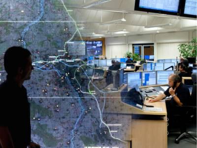 Fotomontage der Regionsleitstelle der Feuerwehr Hannover