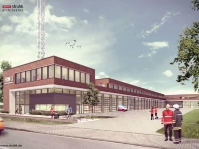 Architektenperspektive: So soll die neue Feuer- und Rettungswache 3 aussehen.