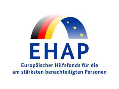 Perspektisch dargestellter Bogen, dessen Außenseite die Farben der Flagge der BRD trägt und in den Farben der Europäischen Union auf der Innenseite.