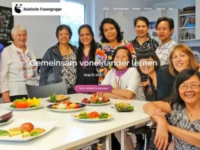 Screenshot der Homepage der Asiatischen Frauengruppe