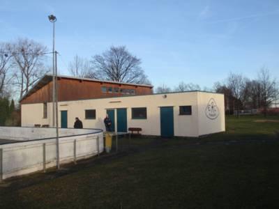 Das sanierte Vereinshaus des ERC