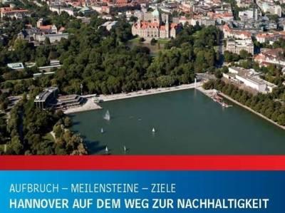 """Titelbild der Broschüre """"Hannover auf dem Weg zur Nachhaltigkeit"""""""