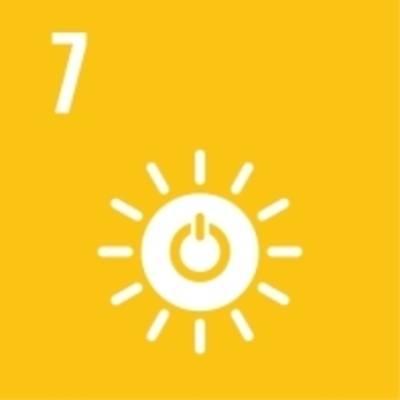 """Symbol für globales Nachhaltigkeitsziel Nr. 7: """"Saubere Energie"""""""
