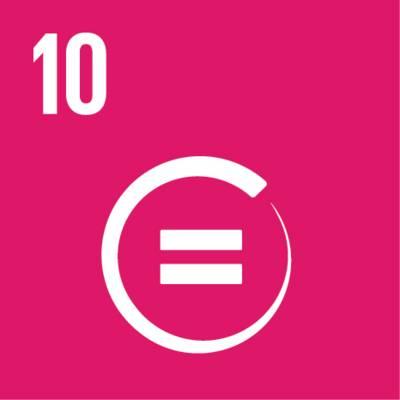 """Symbol für globales Nachhaltigkeitsziel Nr. 10 """"Ungleichheit verringern"""""""