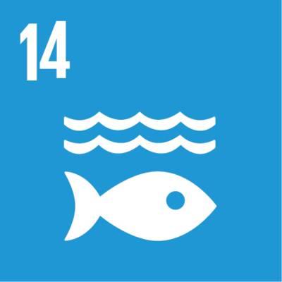 """Symbol für globales Nachhaltigkeitsziel Nr. 14  """"Leben unter Wasser"""""""