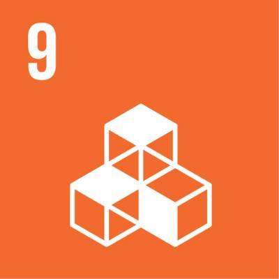 """Symbol für globales Nachhaltigkeitsziel Nr. 9  """"Innovation und Infrastruktur"""""""