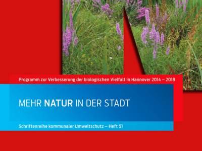 """Ausschnitt aus dem Titelblatt der Broschüre """"Mehr Natur in der Stadt"""""""