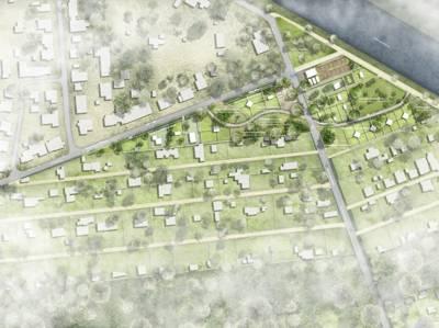 Entwurf einer Kleingartensiedlung.