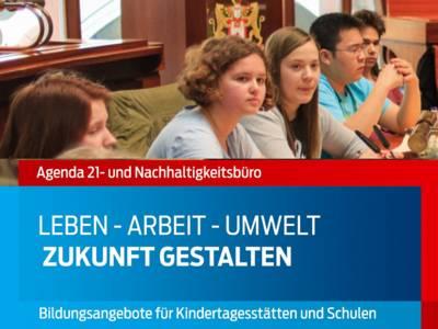"""Ausschnitt aus dem Titelbild der Broschüre """"Zukunft gestalten"""" des Agenda 21- und Nachhaltigkeitsbüros"""