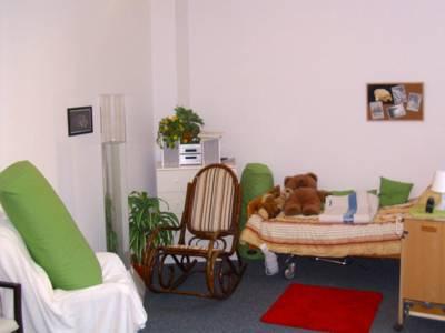 Nachempfundenes Pflegezimmer in der Lernwerkstatt Pflege