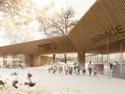 Entwurf eines neuen Eingangsgebäudes.