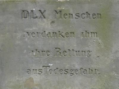 Denkmalsinschrift