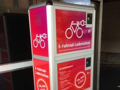 E-Fahrradladestation