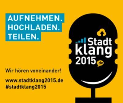 """Banner zur Aktion """"Stadtklang 2015""""."""
