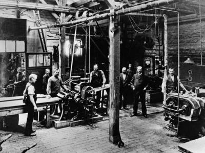 Blick in eine historische Fabrik
