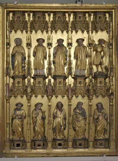 Goldene Altarfiguren