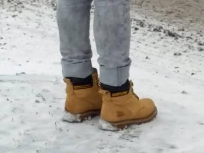 Festes Schuhwerk im Schnee
