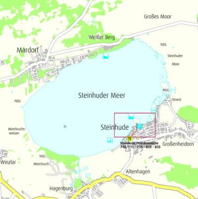 Anfahrtskizze Badeinsel Steinhude