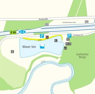 Anfahrtskizze Blauer See