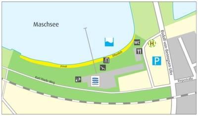Anfahrtskizze Strandbad Maschsee