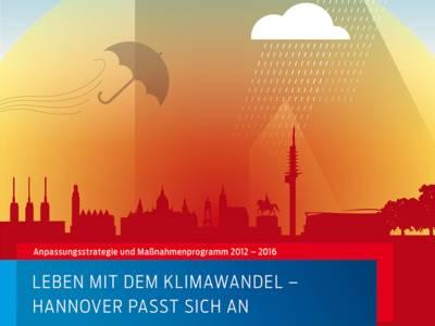 Auf dem Broschürencover ist die Silhouette der Stadt Hannover zu sehen, über der Wolken aufgezogen sind