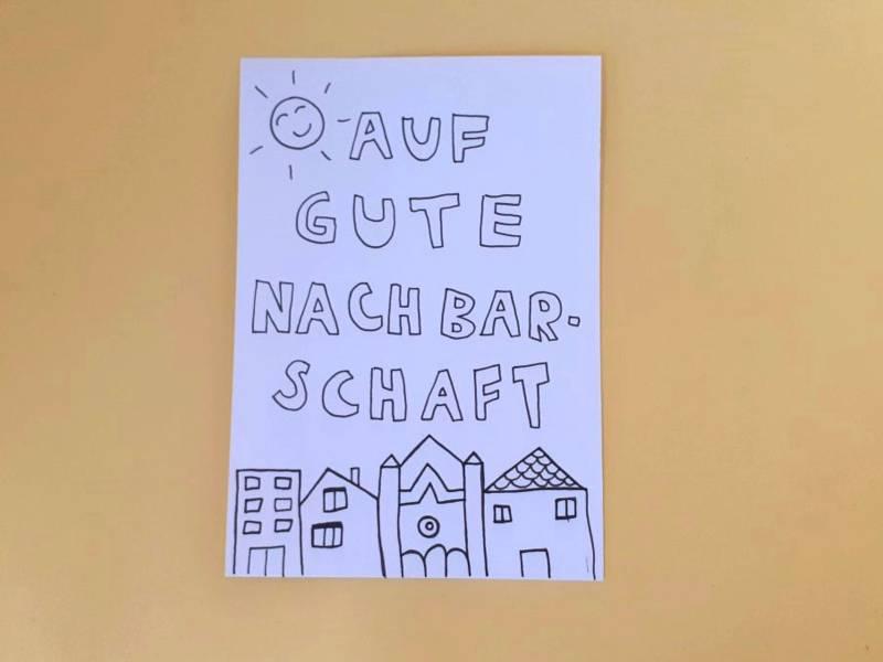 Postkarte Nachbarschaft