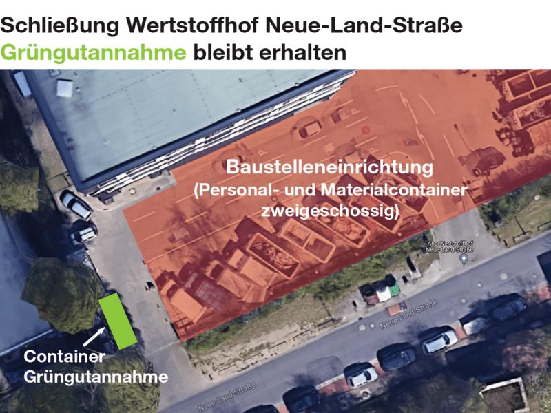 Vogelperspektive des Wertstoffhofs Groß-Buchholz